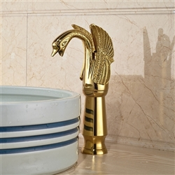 Achaia Gold Finish Bathroom Sink Faucet