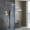 Florence Gold Plated Wall Mount LED Rainfall Shower Set
