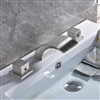 Quito Brushed Nickel Deck Mount Double Handled Bathtub Faucet.