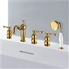 Rennes 5 Piece Bathtub Faucet with Handshower