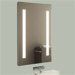 LED Lighted Bathroom Makeup Mirror with Defogger & Sensor Touch Switch
