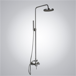 Milan Wall Mounted Brushed Nickel Shower Set with Tub Spout