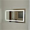 Large Rectangular LED Light Mirror with Defogger & Touch Switch