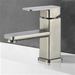 Metz Single Handle Deck Mount Bathroom Sink Faucet