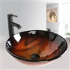 Naples Bathroom Vessel Sink with Faucet & Drain