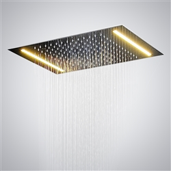 Luna Recessed Shower Head with Single Color LED