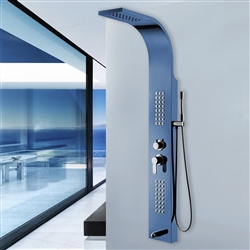 Cadiz Shower Panel with Rainfall & Body Massage Jet