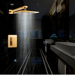 Naples Wall Mount Gold Rainfall Showerset