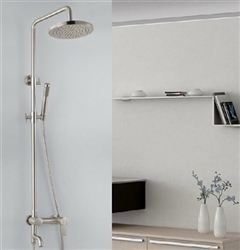 Florence Wall Mounted Brushed Nickel Shower Set