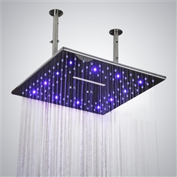BathSelect 16-Inch-LED-Chrome-Shower-Head