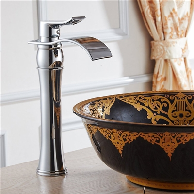 Leon Single Handle Bathroom Sink Faucet with Drain