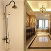 Brasília Oil Rubbed Bronze with Gold Shower Set Hand Shower & Faucet