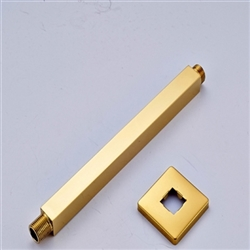 Fort-de-France Wall Mounted Shower Arm in Gold Finish