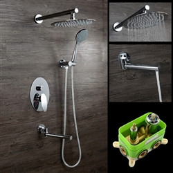 Milan Wall-Mount Rainfall Shower Set with Handshower & Tub Spout