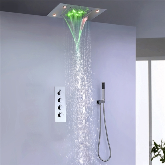 With Flush Mount Ceiling Shower Head