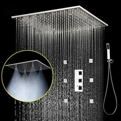 "BathSelect 20"" Large Shower head with 3 Way Mixer & Handshower"