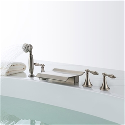 Florence Triple Handle Solid Brass Bathroom Sink Faucet