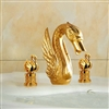 Lille Lavatory Sink Faucet with Swan Handles