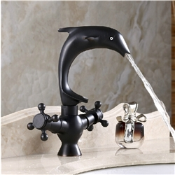 Perpignan Dolphin Shaped Bathroom Sink Faucet