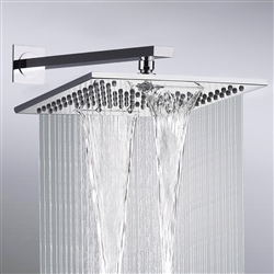 Naples Chrome Plated Bathroom Wall Mount Rainfall Shower Head