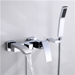 Delphi Water Fall Bath Tub Faucet & Handheld Shower with Hot and Cold Mixer
