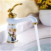 Perpignan Single Handle Gold Finish Bathroom Sink Faucet