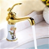 Mulhouse Single Handle Gold Finish Bathroom Sink Faucet