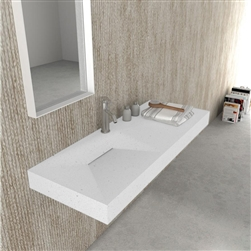 Modena Rectangular Wall Mounted Stone Sink