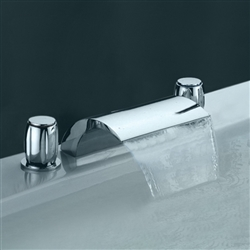 Chrome Widespread Basin Faucet