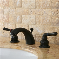 Naples Dual Handle Solid Brass Bathroom Sink Faucet with Drain