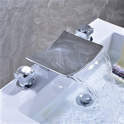 Milan Dual Handle Solid Brass Bathroom Sink Faucet