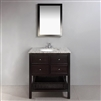 "Bathselect 30"" Bath Vanity with Dappled Grey Granite Top"