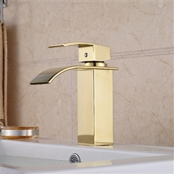 Olivos Gold Finish Bathroom Sink Faucet