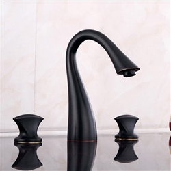Toledo Dual Handle Deck-Mounted Bathroom Sink Faucet