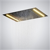 Rectangular Ceiling Mounted Shower Head with Single Color LED