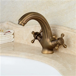 Naples Antique Double Handle Bathroom Sink Faucet