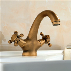 Venice-Padua Antique Double Handle Bathroom Sink Faucet