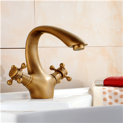 Florence Antique Double Handle Bathroom Sink Faucet