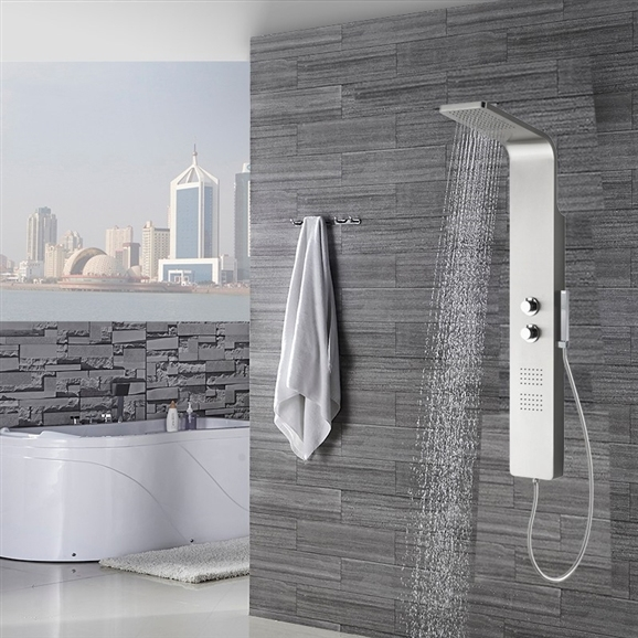 Vienna Thermostatic Bath Shower Panel With Faucet U0026 Hand Shower Larger  Photo Email A Friend