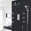 Milan Bathroom Shower Set with Square Rainfall Shower Head & Body Massage Jets