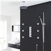Modena Round Bathroom Shower Set with Rainfall Shower Head & Hand Shower