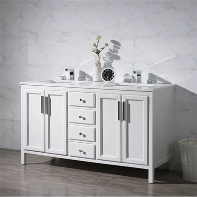 Naples Double Sink Bathroom Vanity Set