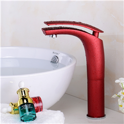 Lecce Deck Mounted Single Handle Faucet with Hot/Cold Water Mixer