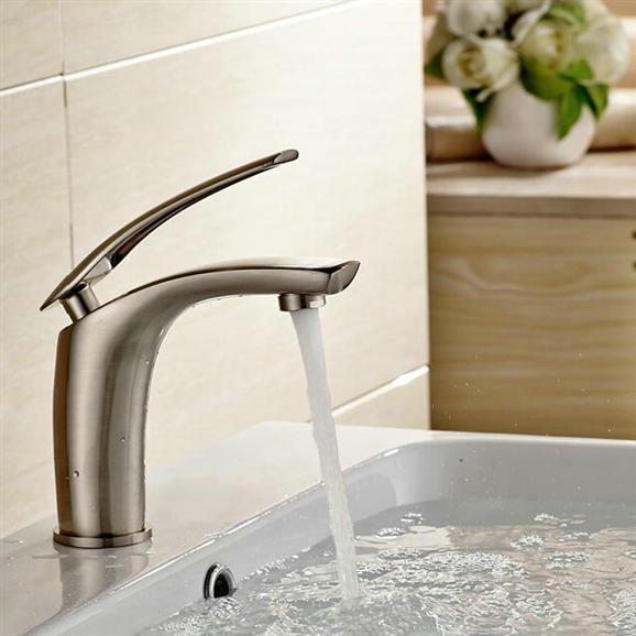 Shop Ancona Deck Mounted Single Handle Faucet With Hot/Cold Water ...