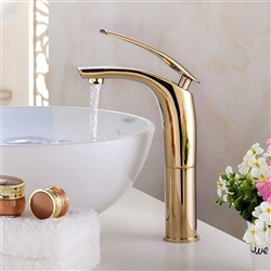 Taranto Deck Mount Single Handle Faucet with Hot/Cold Water Mixer