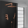 BathSelect Bravat New Wall Mount Bronze Shower Head With Hand-Held Shower & Bravat Mixer