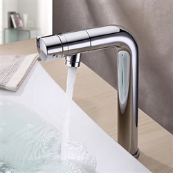 Delos Contemporary Bathroom Sink Faucet with Revolvable Spout