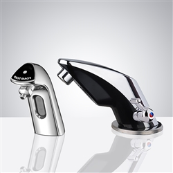 Verna Temperature Control Commercial Automatic Sensor Faucet with Soap Dispenser