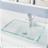 Naples Crystal Colored Glass Vessel Bathroom Sink