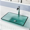 Florence Emerald Colored Glass Vessel Bathroom Sink